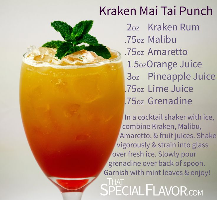 Kraken Mai Tai Punch Recipe - That Special Flavor