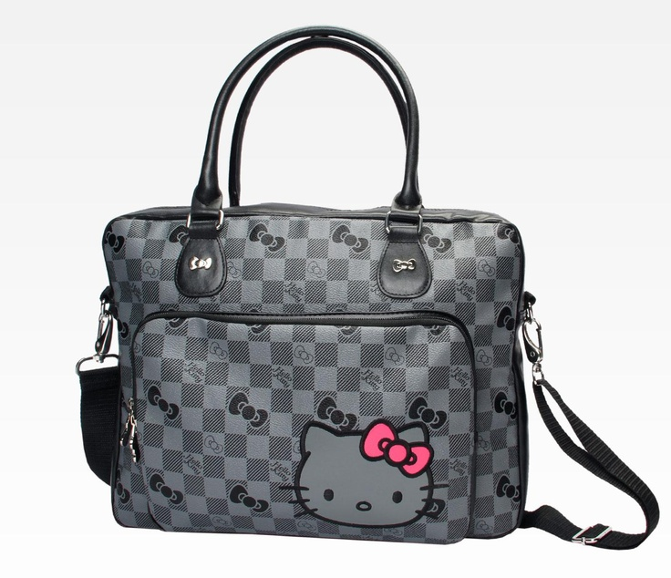"Hello Kitty Laptop Carry Case: Grid in Accessories Electronics Laptop Sleeves, Cases & Bags at Sanrio. A laptop bag that can fit my 17"" notebook!"