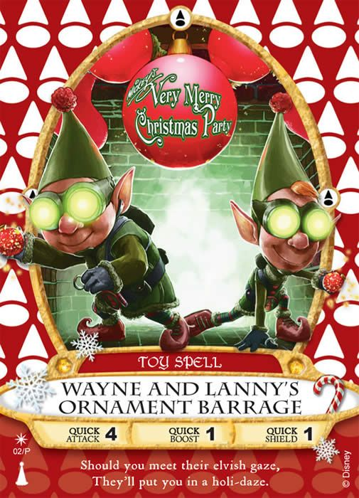 Sorcerers of the Magic Kingdom - Every year, Disney releases special Holiday card which is only available at the Mickey's Very Merry Christmas Parties on select nights in the Magic Kingdom.   (Disney World)