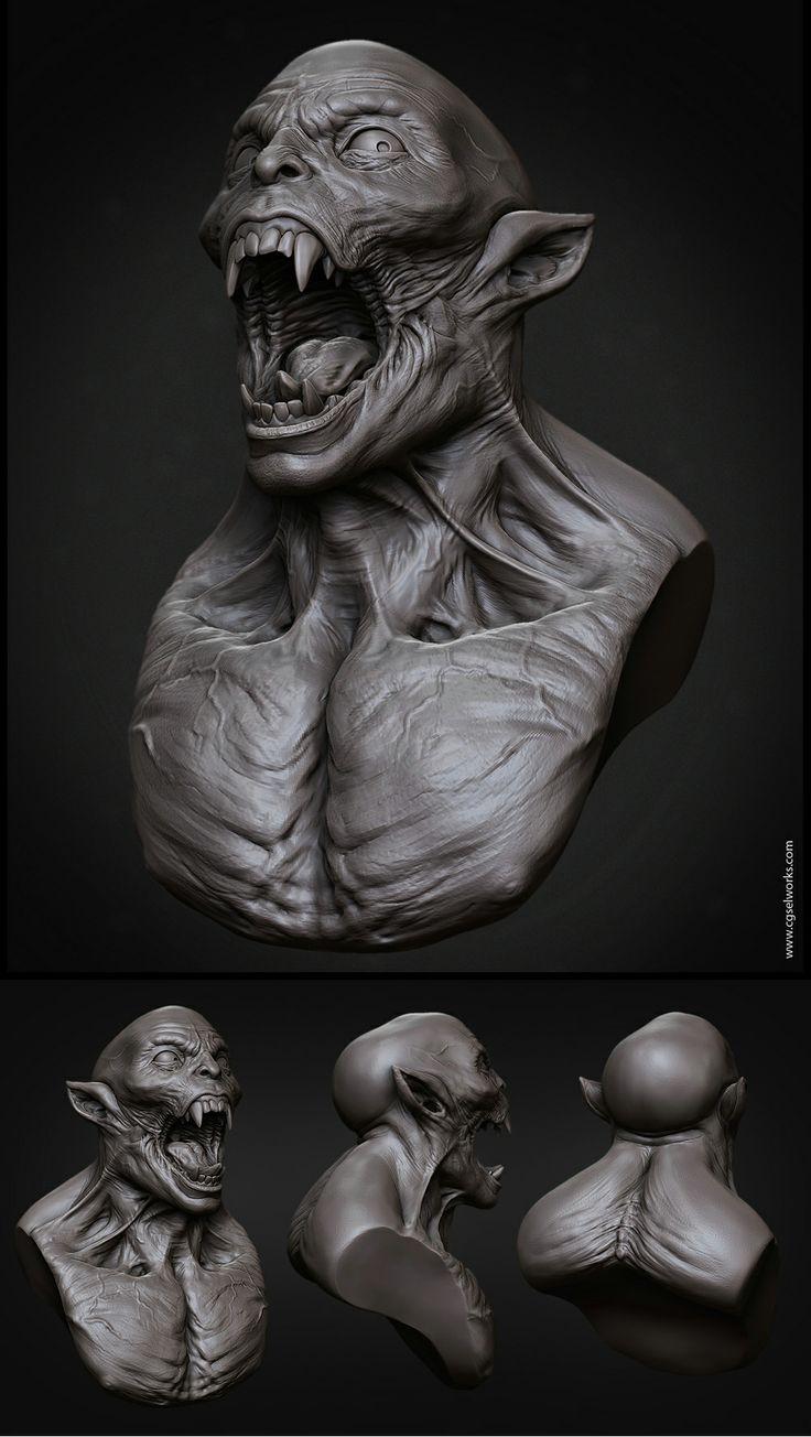 Creature_Bust by SelWorks.deviantart.com on @deviantART