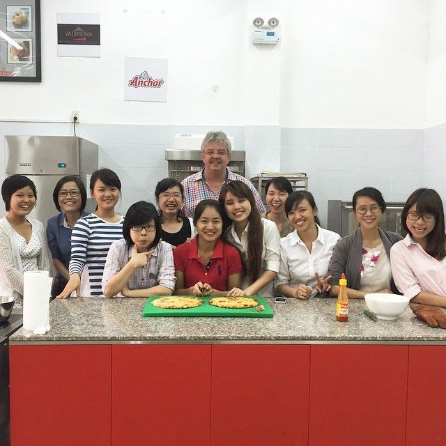'Basic Dairy Knowledge' Training at 'Classic Fine Foods Vietnam' … and plenty of pizza baking … #Saigon #Vietnam #Indochina #CFF #ClassicFineFoods #baking #cooking #bread #pizza  (at Classic Fine Food)
