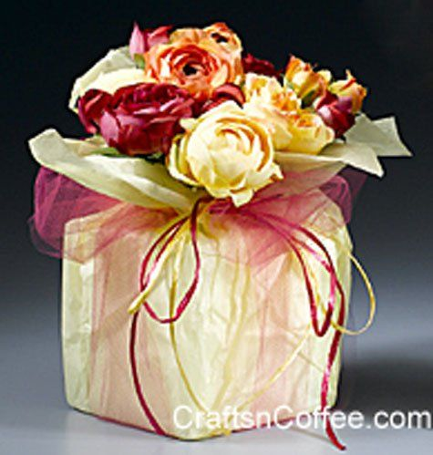 Tissue & Tulle Floral Cube