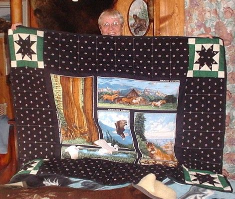 National Parks panel made into a quilt for my Sis.