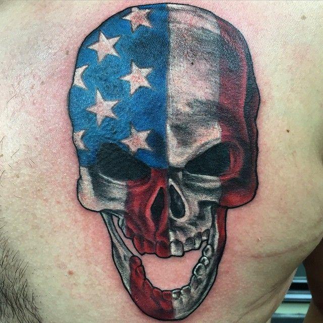 Patriotic skull @revfish @fishinktattoos @wholeaddiction # ...