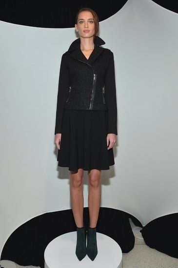 Glad to see that moto jackets aren't going anywhere! Love this Elie Tahari look.  #NYFW #Fall2013 #ElieTahari
