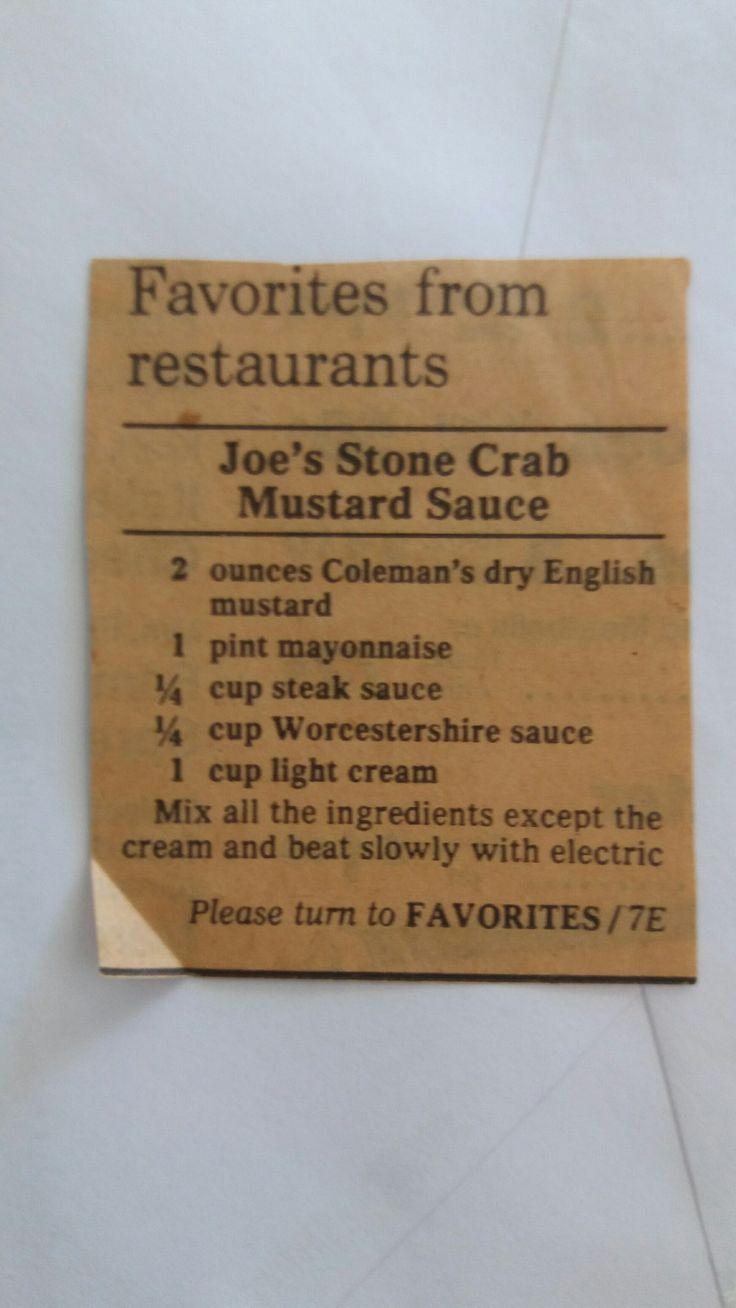Joe's Stone Crab Mustard Sauce