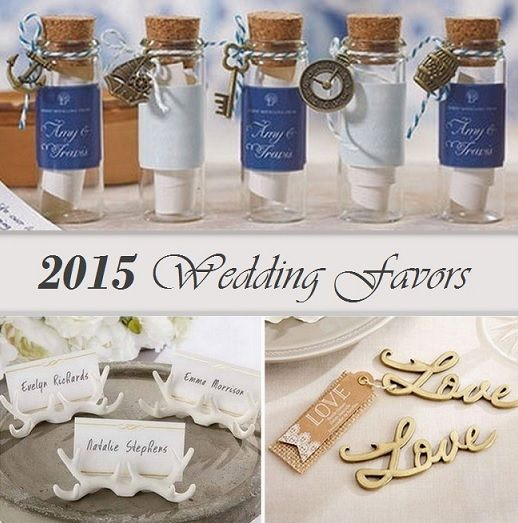 New Wedding Favor Ideas 2015 : New Wedding Themed Favor Trends from HotRef.com. The new design favors ...