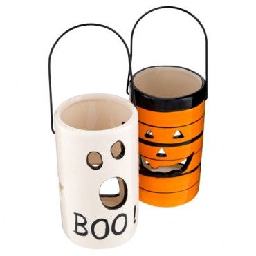 ceramic tealight holder halloween party decorations halloween - Ceramic Halloween Decorations