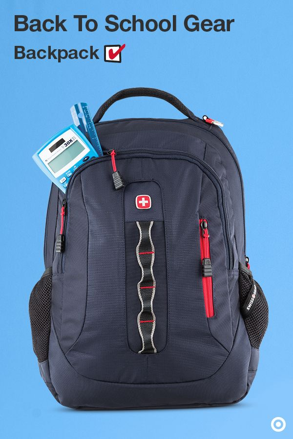 The SwissGear backpack collection is perfect for back to school and beyond. This one is super sturdy and tech-friendly, with pockets for your cell phone and laptop, as well as multiple compartments for super-storing your school supplies and more. Haul it to class, take it on a hike, on a bike, or wherever you may roam.