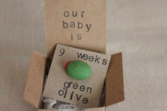 9 week Pregnancy Announcements How Big Is My Baby by ThePartyPosse, $10.99