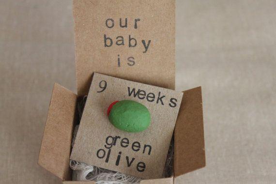 9 week Pregnancy Announcements How Big Is My Baby by ThePartyPosse, $10.99