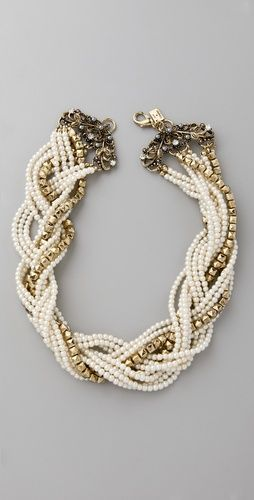 Chunky necklace. Would look amazing with a strapless gown. Wouldn't be too hard to DIY. Juliet & Company Dos Papillon Necklace