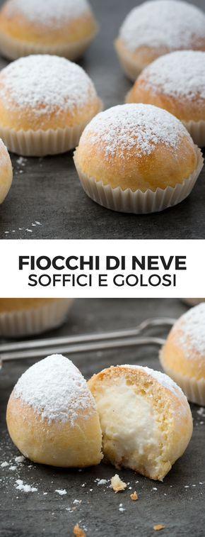 FIOCCHI DI NEVE: un dolcetto soffice e delizioso ripieno di delicata crema alla ricotta!