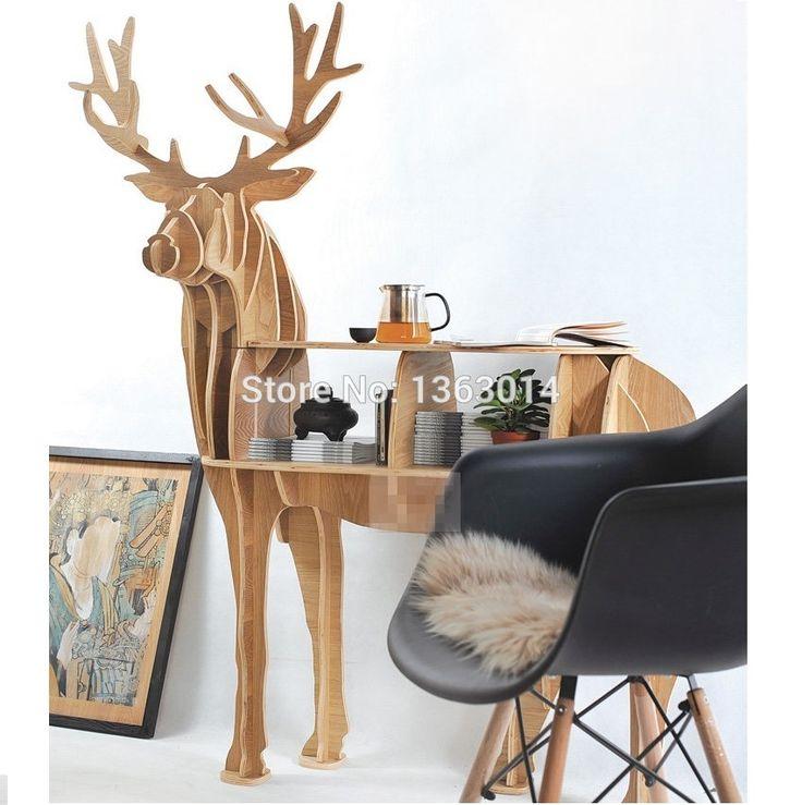 """J и E высокого класса серии """" L """" размер оленей журнальный столик """" возвращение короля """" деревянная мебель купить на AliExpress"""