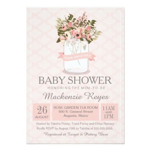 323 besten mason jar baby shower invitations bilder auf pinterest, Baby shower invitations