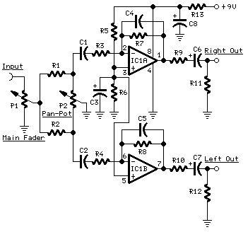 portable mixer circuit diagrams schematics electronic. Black Bedroom Furniture Sets. Home Design Ideas