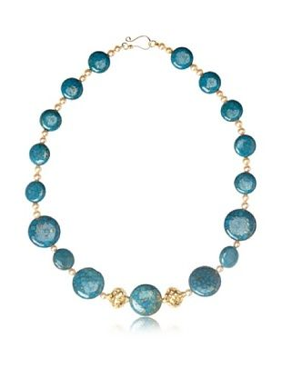 73% OFF Liv Oliver Multi Turquoise and Gold Beaded Necklace