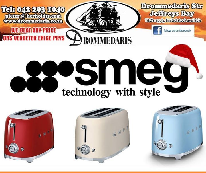 Smeg's innovative toaster design features two extra wide slots, perfect for thick cut crusty bread and tasty waffles. Visit us and purchase a Smeg #appliance like this one, in your significant others favourite colour, this would make the perfect gift! #festiveseason #gifts