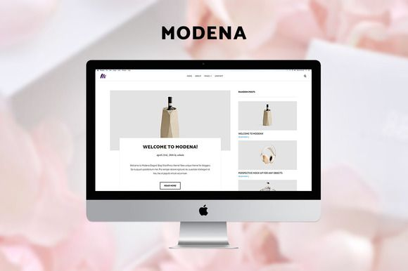 Modena Elegant Blog WordPress Theme by ShakeDesign on @creativemarket