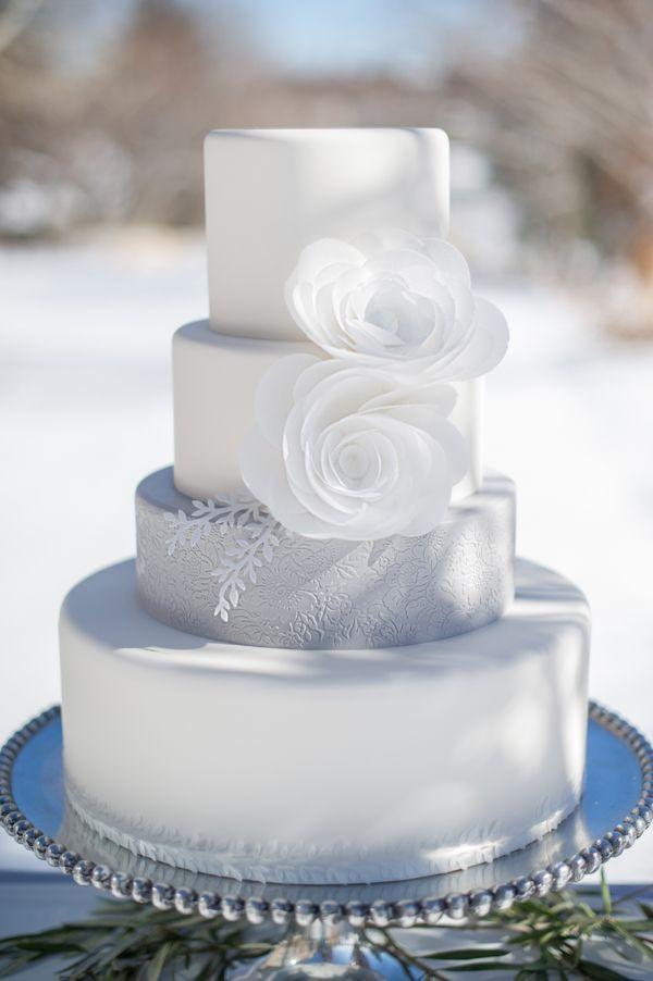 Winter Wonderland Wedding Cake | by Intricate Icings on TheCakeBlog.com