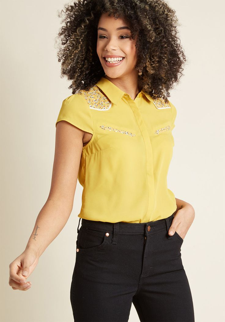 Western Whimsy Button-Up Top | ModCloth