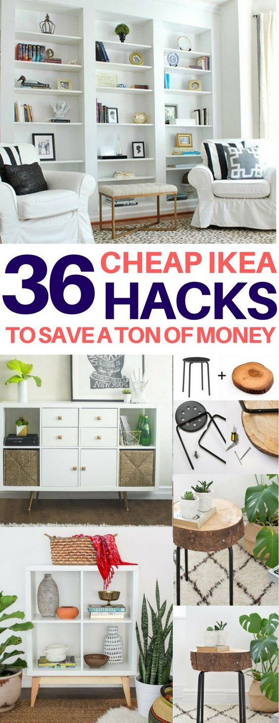 BRILLIANT Ikea hacks you have to see to believe! Cheap & easy ikea hacks, diy home decor, diy room decor, living room ideas, bedroom ideas, kitchen ideas