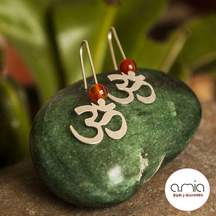 #aretes #om #plata925 #hechoamano #handmade #accesories #jewelry #silver #earrings