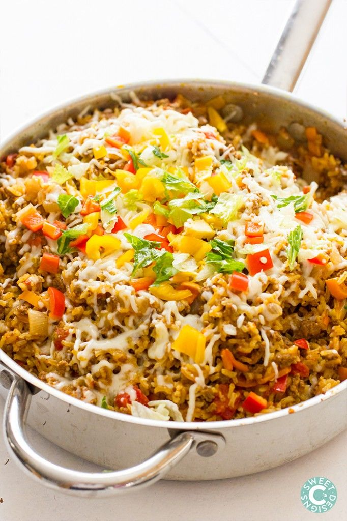 Taco rice skillets- this is the easiest recipe for spicy taco rice ...