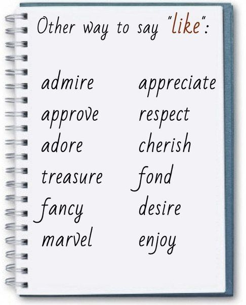 Other ways to say 'like'
