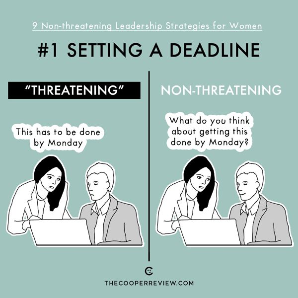 When setting a deadline, ask your coworker what he thinks of doing something, instead of just asking him to get it done.