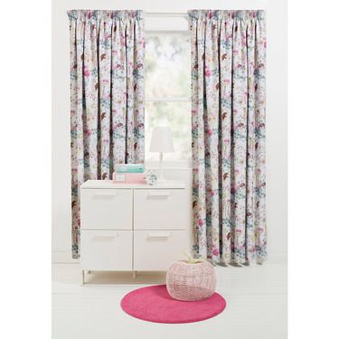 KOO Petal Fairies Block Out Pencil Pleat Curtains White 140 - 220 x 221 cm | Spotlight Australia