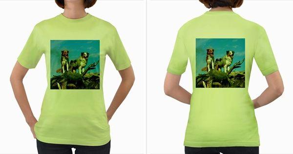 Mini+Australian+Shepherd+Group+Women's+Green+T+Shirt+Women's+Green+T-Shirt