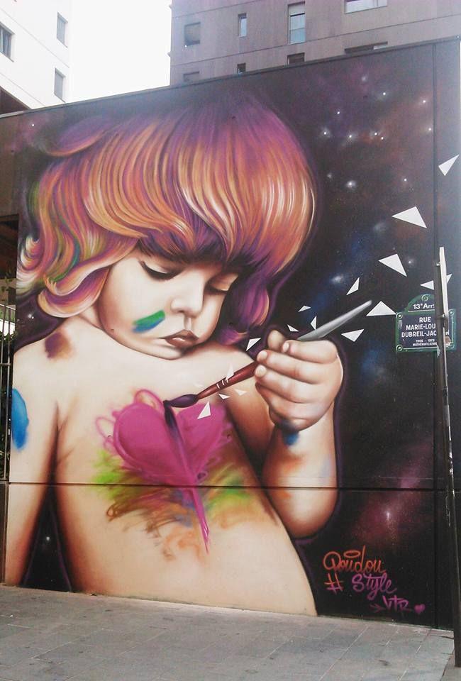 Street artist : DOUDOU, Paris XIII                                                                                                                                                      More