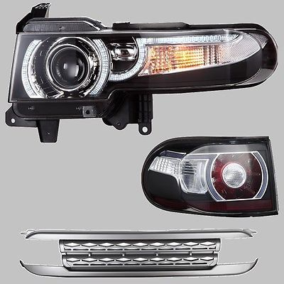 Details about Halo Headlights Fit 2007-2015 Toyota FJ Cruiser LED with Grill…