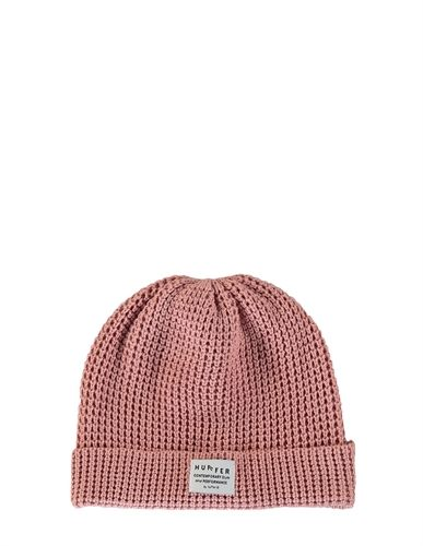 HUFFER WAFFLE BEANIE DUSKY PINK -view all -AREA 51