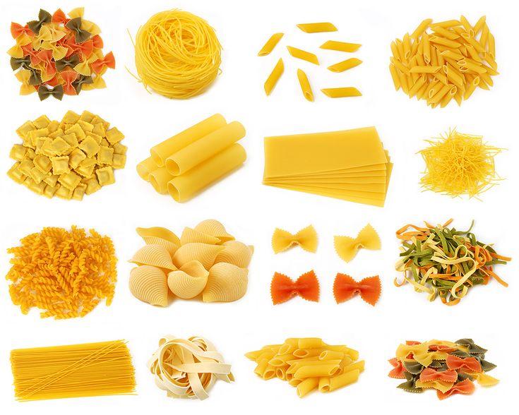 Spaghetti Linguini Vermicelli Conchiglie Rotini Fettucine   Ravioli Capellini Fusilli Cannelloni Tortellini Penne  Rigatoni Lasagna
