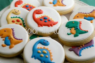 Color Me Cookie - Dinosaur cookies