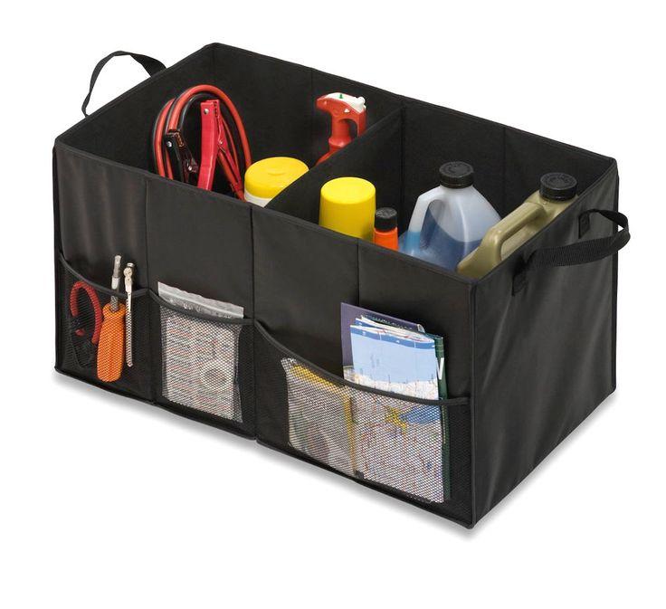 Car Trunk Organizer Truck SUV Cargo Collapsible Folding Storage Bag Bin Caddy #HoneyCanDo