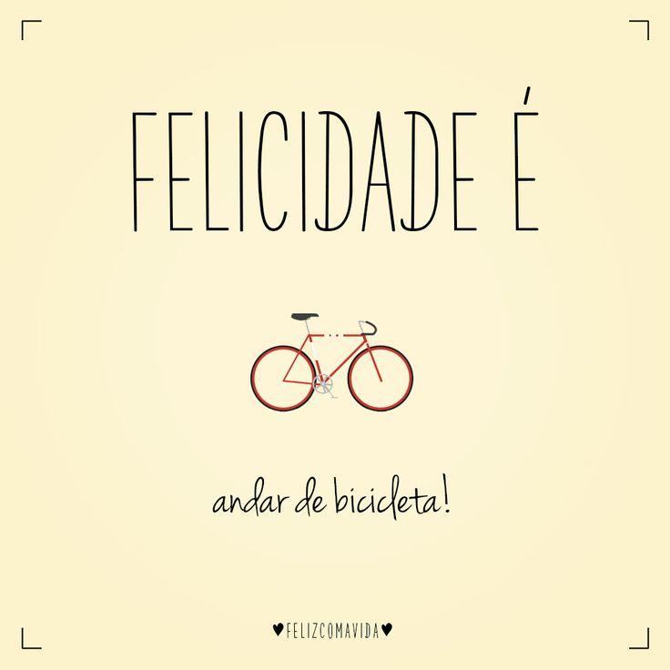 Felicidade é andar de bicicleta! | bike, lovers, ciclovia, bicycle, happy, happiness |