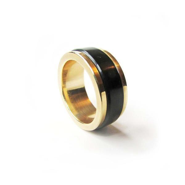 Mens Jade Banded Wedding Ring NZ Pounamu + Gold   Greenstone