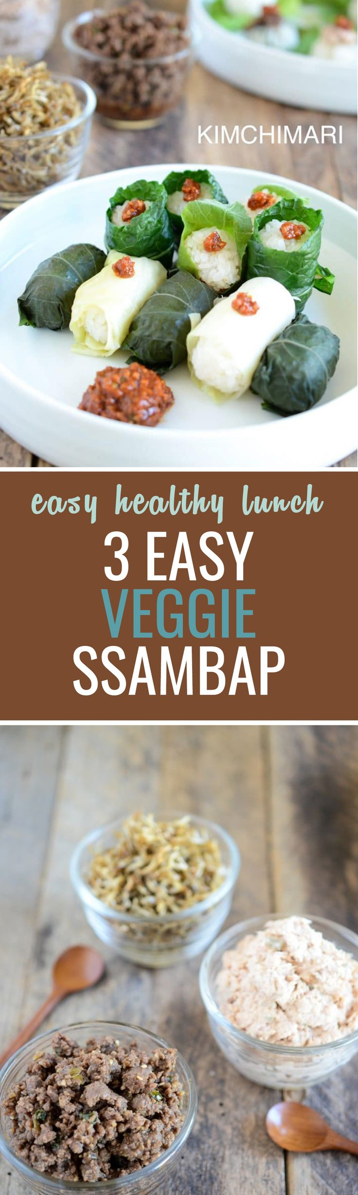 Gluten free, easy veggie wrap rice ssambap is a fun way to have a nutritious meal :)