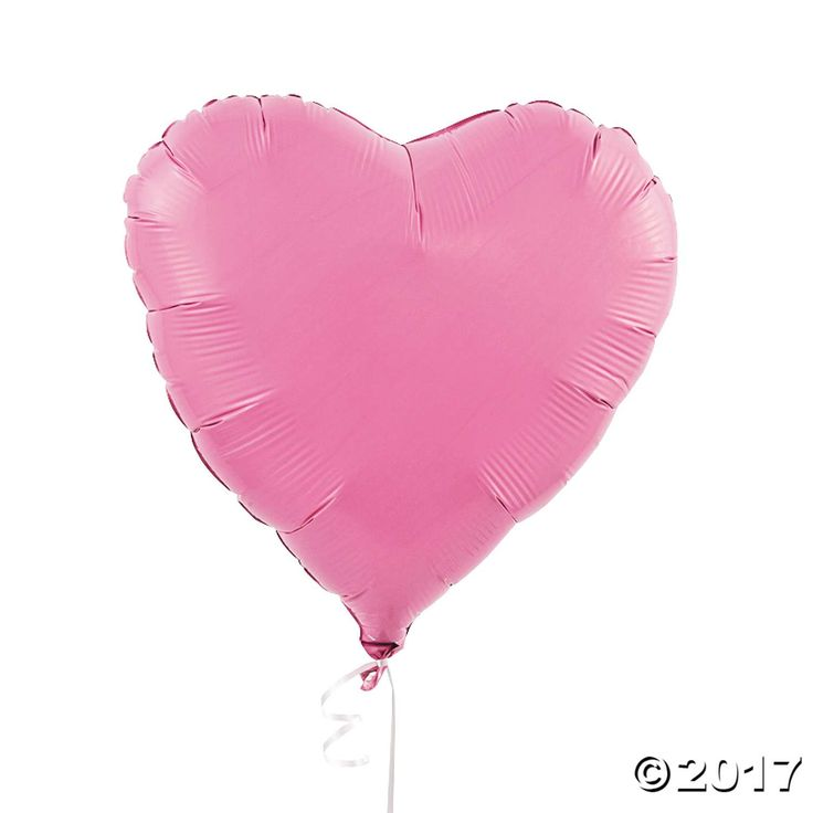 Pink Heart Mylar Balloons