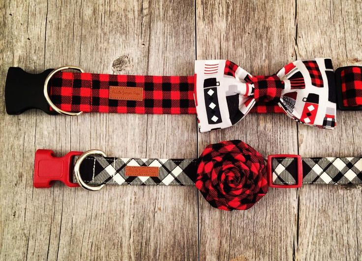 Bring on that chilly weather! Buffalo Plaid & Plaid Dog Collars