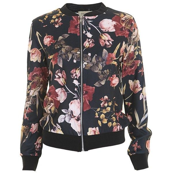 Bomber Jacket in Floral ($21) ❤ liked on Polyvore featuring outerwear, jackets, floral print jackets, floral bomber jackets, blouson jacket, flower print jacket and floral print bomber jacket