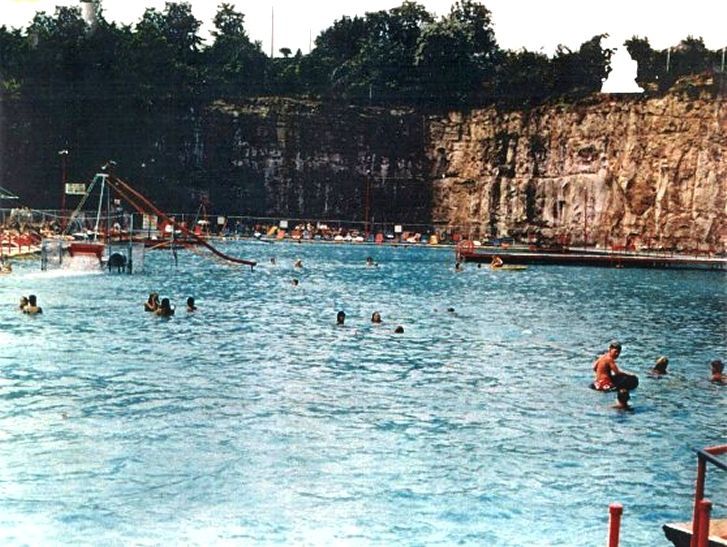 Rock Lake Pool was an outdoor swimming pool located in South Charleston, West Virginia operating from 1942 to 1985. The pool was built in an old rock quarry in the 1930s and opened in 1942. mywvhome.com