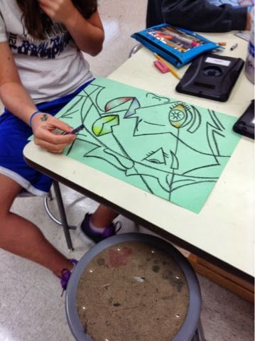 Art at Becker Middle School: Picasso Portraits