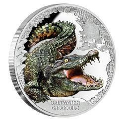 Australia's Remarkable Reptiles - Saltwater Crocodile 2017 1oz Silver Proof Coin | The Perth Mint
