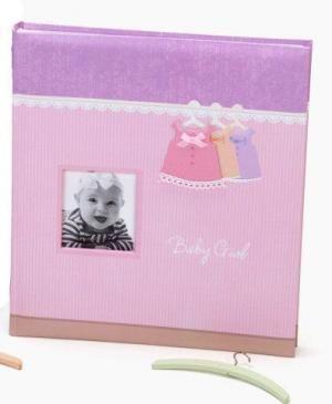 Dětské fotoalbum na růžky 29x32cm/60stran, růžové Kliknutím zobrazíte detail obrázku.