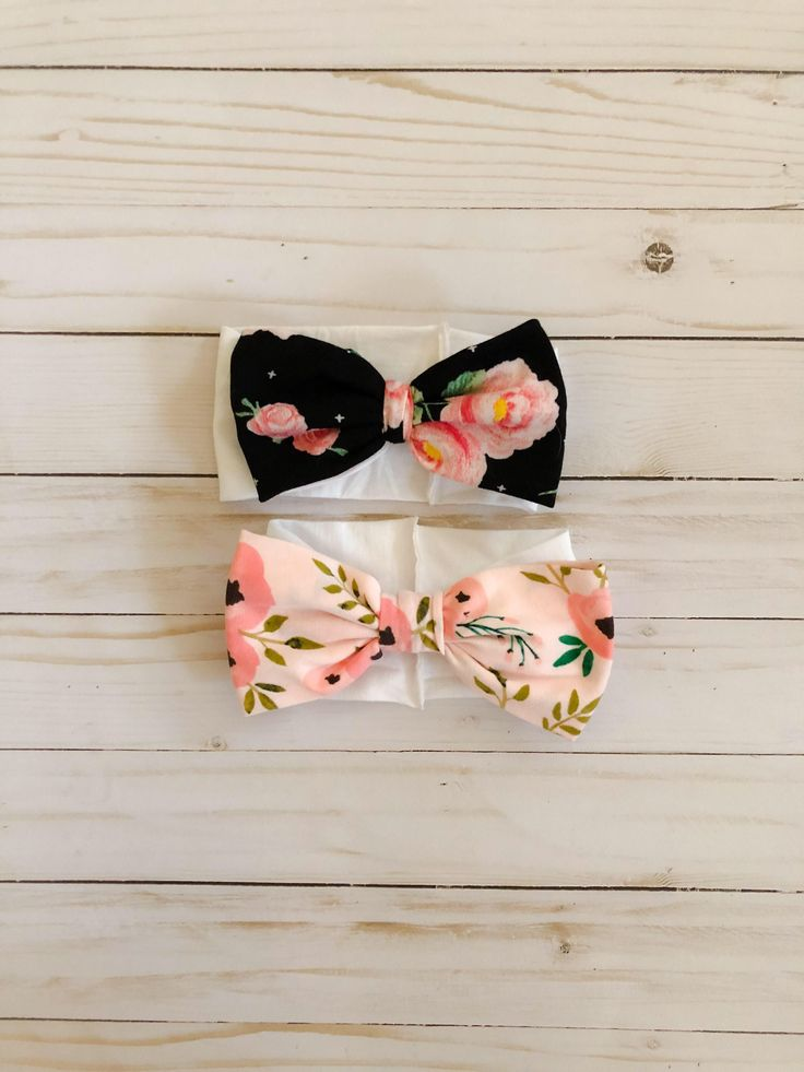 Excited to share the latest addition to my #etsy shop: Baby girl headbands, SET OF 2, Newborn, bow headbands, girl headbands, baby girl accessories, flower headband, floral headband, floral