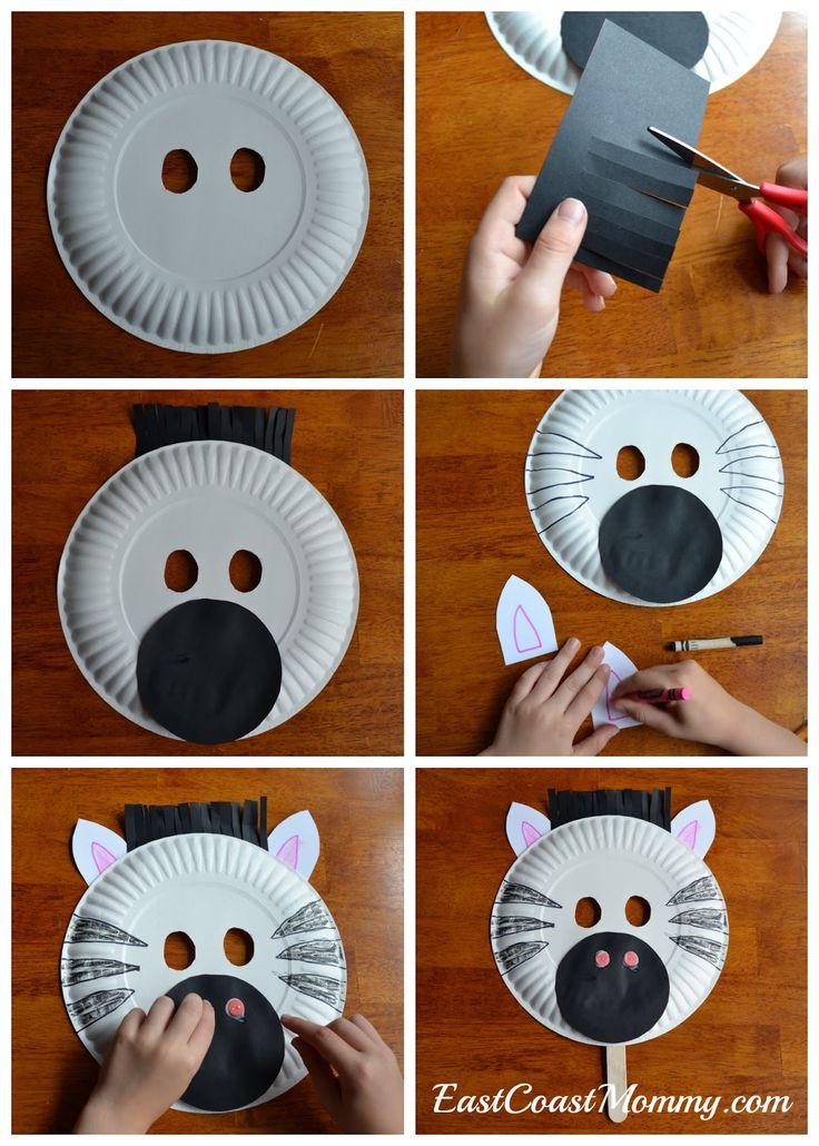 Zebra de prato de papel - imagens autoexplicativas